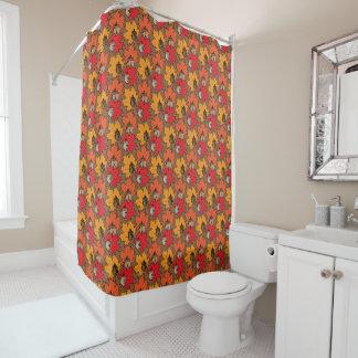 Eicheln und Blätter V Duschvorhang