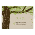 Eichen-Baum-Hochzeit danken Ihnen Karte