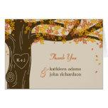 Eichen-Baum-Hochzeit im Herbst danken Ihnen Karte
