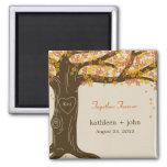 Eichen-Baum-Hochzeit im Herbsts-Magnet Kühlschrankmagnete
