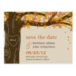 Eichen-Baum-Hochzeit im Herbsts-Save the Date