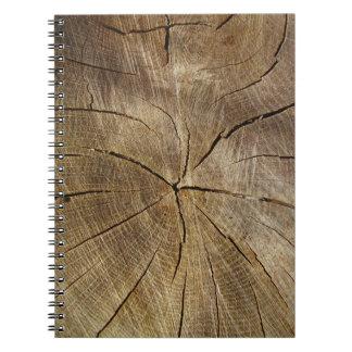 Eichen-Baum-QuerschnittsFoto-Notizbuch Spiral Notizblock