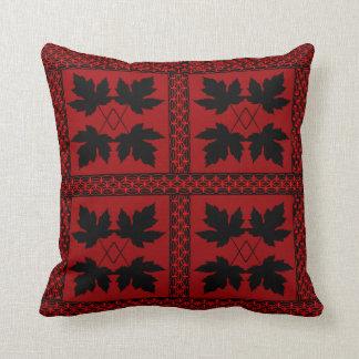 Eichen-Blatt-rote schwarze Natur-populäre Kissen