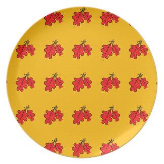 Eichen-Blätter-und Eichel-Melamin-Platte Melaminteller