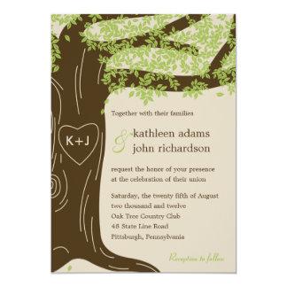 Eichen-Hochzeits-Einladung 12,7 X 17,8 Cm Einladungskarte