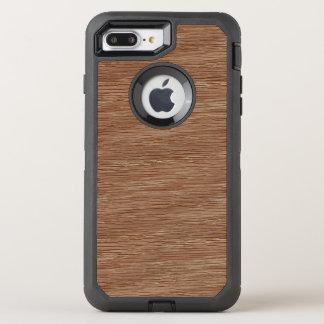 Eichen-Holz-Korn-Blick TANs Brown natürlicher OtterBox Defender iPhone 8 Plus/7 Plus Hülle