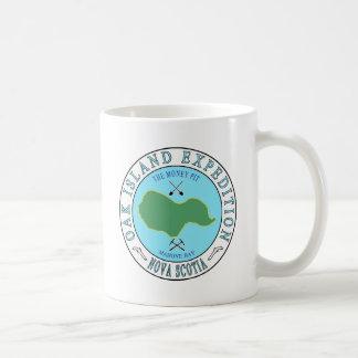 Eichen-Insel-Geld-Gruben-Expedition Kaffeetasse