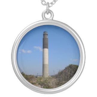 Eichen-Insel-Leuchtturm, North Carolina Versilberte Kette