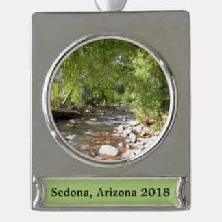 Eichen-Nebenfluss II Sedona Arizona in der Banner-Ornament Silber