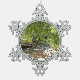 Eichen-Nebenfluss II Sedona Arizona in der Schneeflocken Zinn-Ornament