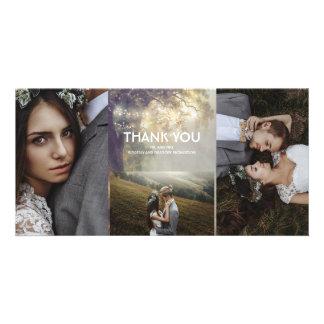 Eichen-Schnur-Licht-rustikale Hochzeit danken Karte