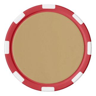 Eichen-Täuschungs-Fall Pantone Farbe 2015 Pokerchips