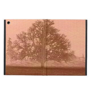 Eichenbaum-Silhouette des Erdtagessonnenuntergangs