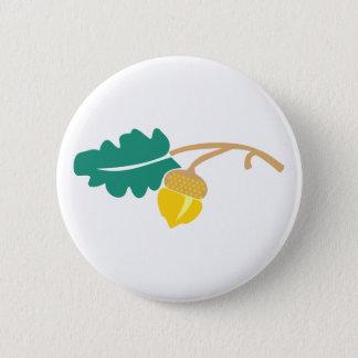 Eichenblatt Eichel oak leaf acorn Runder Button 5,1 Cm