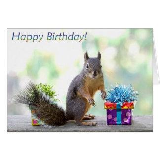 Eichhörnchen-alles Gute zum Geburtstag! Grußkarte