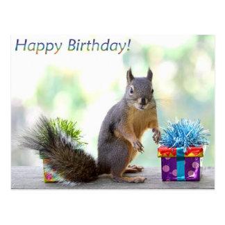Eichhörnchen-alles Gute zum Geburtstag! Postkarte