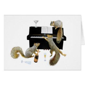 Eichhörnchen am Klavier Grußkarte