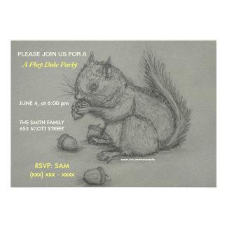 Eichhörnchen-Bleistift der Spieldatum Party