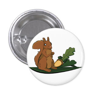 Eichhörnchen Runder Button 2,5 Cm