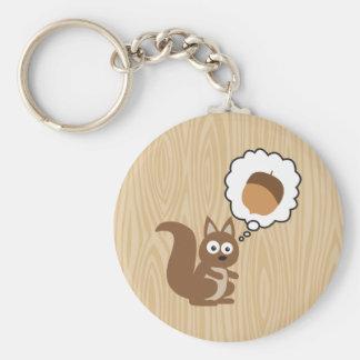 Eichhörnchen, das an Nuss denkt Schlüsselband