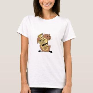 Eichhörnchen, das den Euphonium spielt T-Shirt