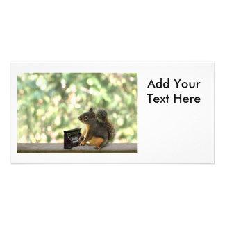 Eichhörnchen, das Klavier spielt Individuelle Foto Karten
