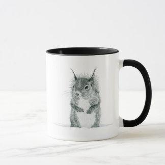 Eichhörnchen, das Tasse zeichnet