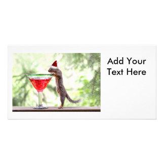 Eichhörnchen, das Weihnachten feiert Fotokarten