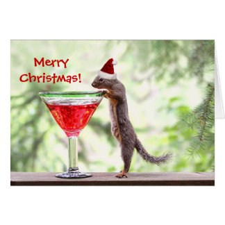 Eichhörnchen, das Weihnachten feiert Karte