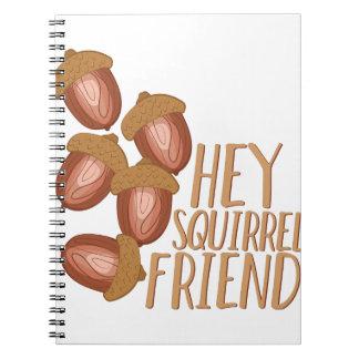 Eichhörnchen-Freund Spiral Notizblock