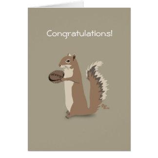 Eichhörnchen-Glückwunsch-Karte Grußkarte