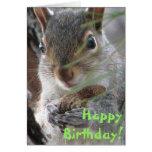 Eichhörnchen grub oben eine Erdnuss-alles- Gute Grußkarte