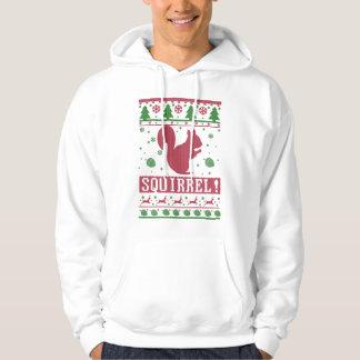 Eichhörnchen-hässliches Weihnachten Hoodie