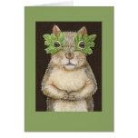 Eichhörnchen in der Maskenkarte Grußkarten