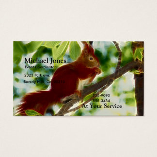 Eichhörnchen in einem Baum Visitenkarte
