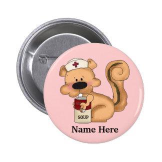 Eichhörnchen-Krankenschwester-Knopf Buttons