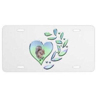 Eichhörnchen-Liebhaber US Nummernschild