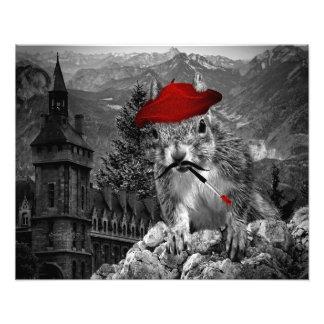 Eichhörnchen-lustiger französischer Maler Photos