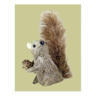 Eichhörnchen-Marionetten-Postkarte Postkarte
