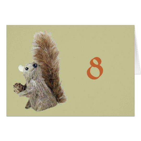 Eichhörnchen-Marionetten-Tabellen-Zelt-Schablone Karte