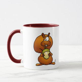Eichhörnchen mit Eichel Tasse