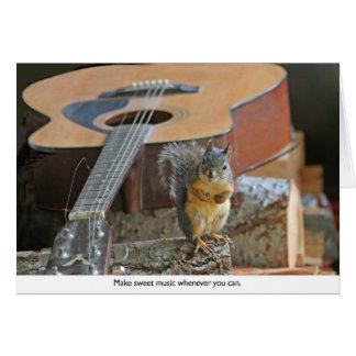Eichhörnchen mit Gitarre Karte