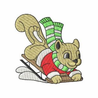 Eichhörnchen mit Schlitten