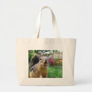 Eichhörnchen-Nahaufnahme Jumbo Stoffbeutel
