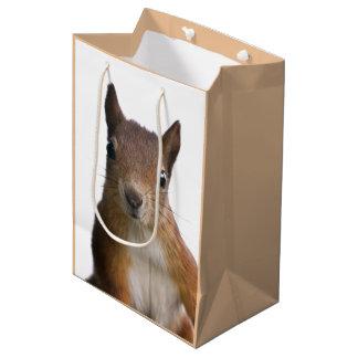 Eichhörnchen-Porträt-Geschenk-Tasche Mittlere Geschenktüte