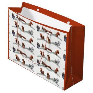 Eichhörnchen-Raserei-Geschenk-Tasche Große Geschenktüte