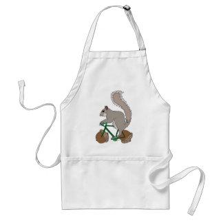 Eichhörnchen-Reitfahrrad mit Eichel-Rädern Schürze