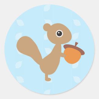 Eichhörnchen! Runder Aufkleber