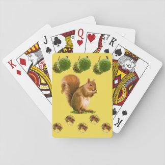Eichhörnchen-Spielkarte-Plattform Spielkarten