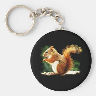 Eichhörnchen Standard Runder Schlüsselanhänger